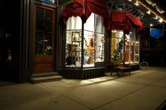 Devanture de magasin victorien à Noël Photographie stock libre de droits
