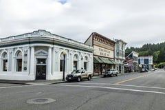 Devanture de magasin victoriens dans Ferndale, Etats-Unis photographie stock libre de droits