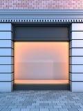 Devanture de magasin vide classique. Image stock