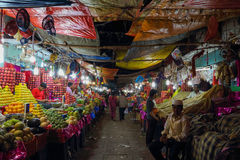 Devarai Market in Mysore of India Stock Image