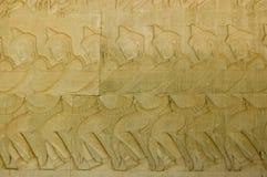 Devas hindú que tira de Vasuki, Angkor Wat Imágenes de archivo libres de regalías