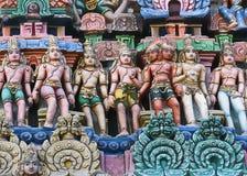 Devas, the servants of Shiva, form a line. Royalty Free Stock Photo
