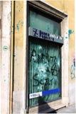 Devastación de la agencia de la batería en Roma Foto de archivo