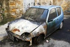 Devastated car Stock Photography