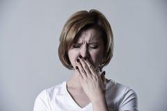 Devastated depressed woman crying sad feeling hurt suffering depression in sadness emotion Stock Photography