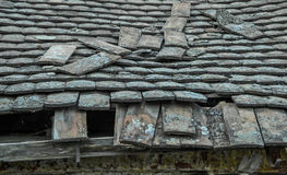 Devastated roof Stock Images