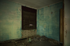 Devastated room in the building Stock Photo