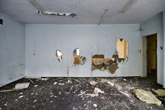 The devastated room Stock Image