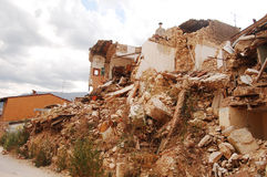 The devastation caused by the earthquake. The rubble after the devastation of an earthquake Royalty Free Stock Photo