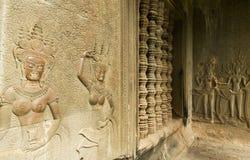 Devata, Angkor Wat, Cambogia immagini stock