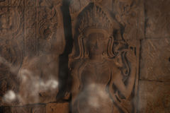 Devata carving with fumes Stock Image