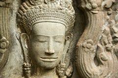 Devata di pietra che scolpisce, pre tempio di Rup immagine stock libera da diritti