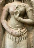 Scultura di pietra, Angkor Wat, tempio, Cambogia fotografie stock libere da diritti
