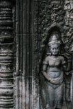 Devata en el templo de Banteay Kdei en el complejo de Angkor, Siem Reap, Camboya Fotografía de archivo