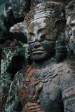 Devata en templo de TA Prohm en el complejo de Angkor, Siem Reap, Camboya Imagen de archivo libre de regalías