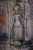 Devata i den Bayon templet Royaltyfria Bilder