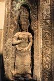 Devata i tempel för Ta Prohm Royaltyfria Foton