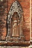 Devata at Lolei in Angkor Royalty Free Stock Photo