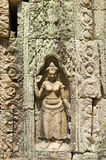 Devata, low relief in Angkor Royalty Free Stock Image