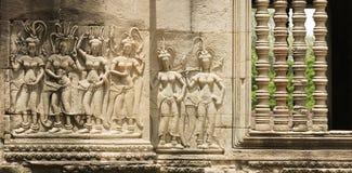 Devata Sculpture, Angkor Wat Temple, Cambodia Stock Image