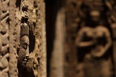 Devata statue in Ta Prohm Royalty Free Stock Photo