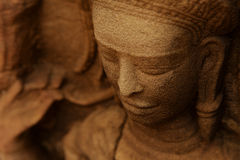 Devata  in a temple in Angkor Stock Image