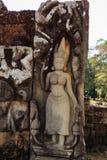 Devatas στο βασιλιά λεπρών σε Angkor Thom Στοκ Φωτογραφία