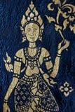Devatas no templo em Laos Fotos de Stock Royalty Free