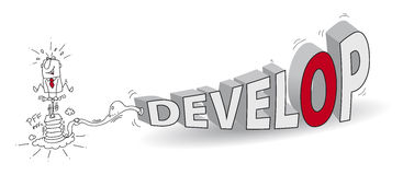 develop stock illustratie