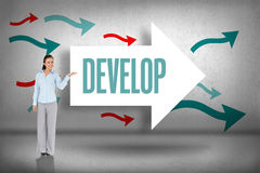 Develop against arrows pointing Stock Image