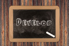 Develop  - chalkboard Royalty Free Stock Image