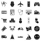 Develop child icons set, simple style Royalty Free Stock Photo