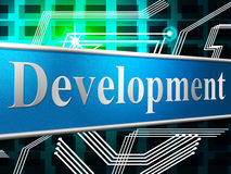 Develop Development Indicates Success Forming And Progress Royalty Free Stock Photo