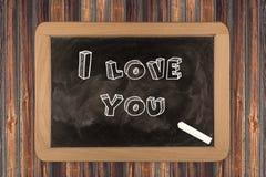 Develop I love you - chalkboard Stock Image