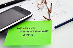 Develop smartphone apps Royalty Free Stock Photos