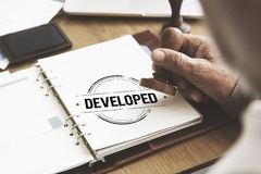 Developed Change Improvement Learning Strategy Cocnept Royalty Free Stock Image