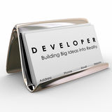 Developer Business Cards Builder Software Application Programmer Royalty Free Stock Image