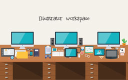 Developer or Designer Workspace Stock Photos