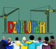 Developer Development Improve Skill Management Concept.  Stock Image