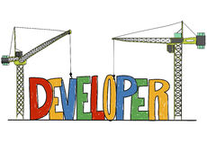 Developer Development Improve Skill Management Concept Royalty Free Stock Images