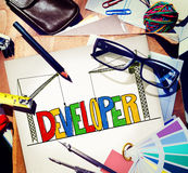 Developer Development Improve Skill Mangement Concept Stock Photography