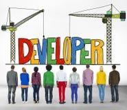 Developer Development Improve Skill Mangement Concept Royalty Free Stock Photography