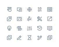 Developer Icons. Line Series Stock Photo