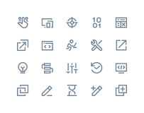 Developer icons. Line series royalty free illustration