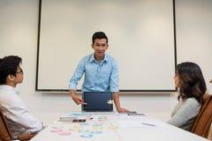 Developer presenting application Stock Photo