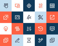 Developer and programing icons. Flat style Royalty Free Stock Photography