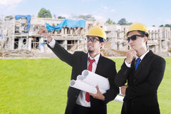 Developers meeting at the construction site Royalty Free Stock Photos