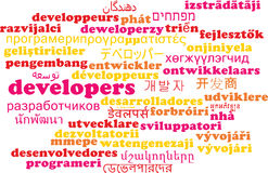 Developers multilanguage wordcloud background concept Stock Photography