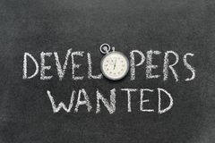 Developers wanted Royalty Free Stock Photo