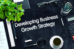 Developing Business Growth Strategy Concept. 3D render. Royalty Free Stock Photo